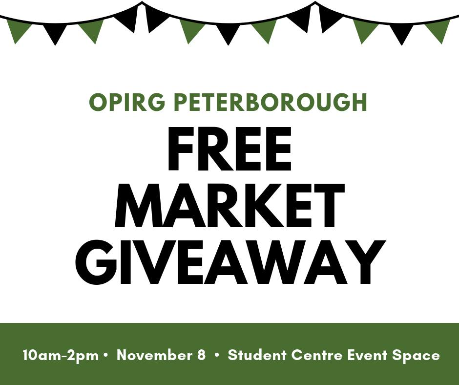Free Market GiveAway Poster, Location: Student Centre Event Space, 10am-2pm