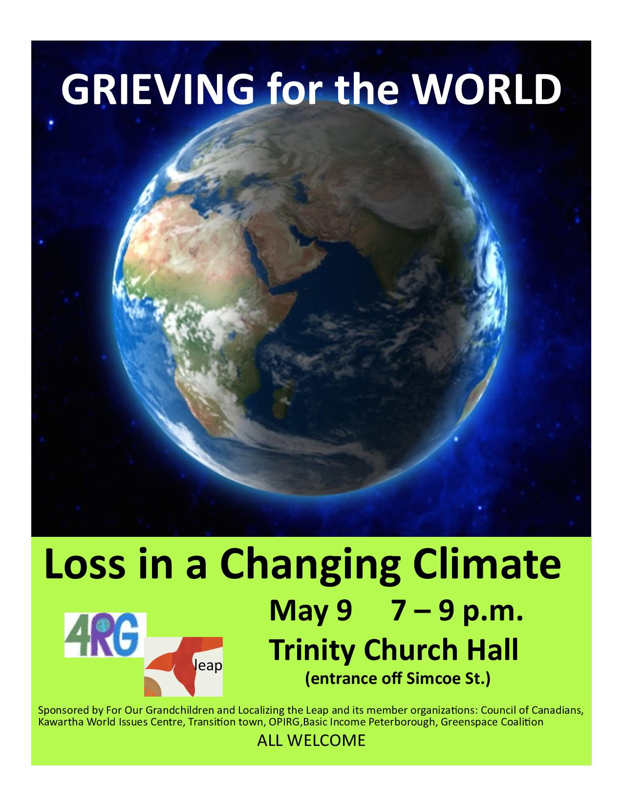 Grieving the World Community Event