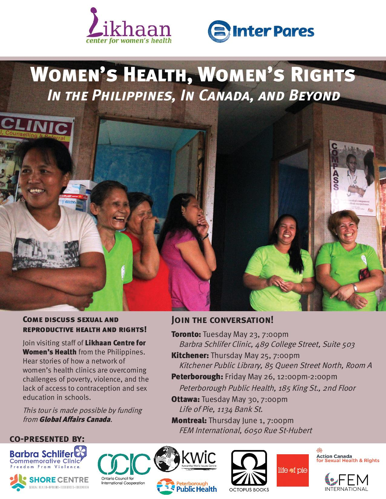 Women's Health, Women's Rights May 26