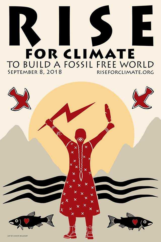 Rise for climate jobs and justice event poster