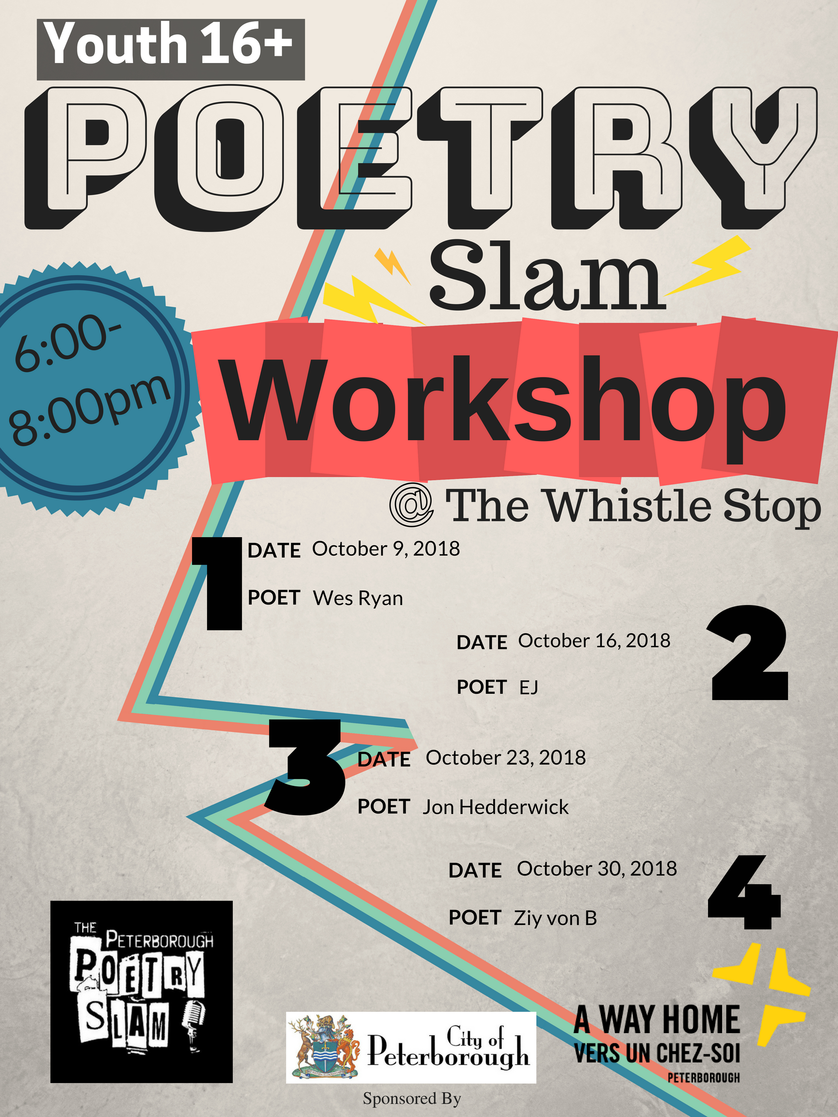 Youth Poetry Slam Workshop Series   Kawartha World Issues